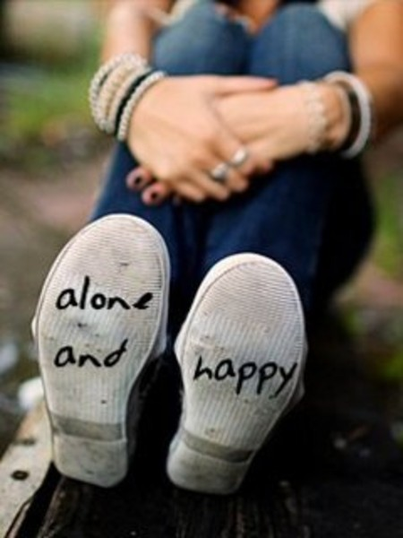 Wallpapers Designs: ALONE BUT HAPPY