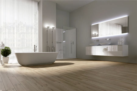 badkamer met houtlook: sydati houtlook badkamertegels laatste, Badkamer