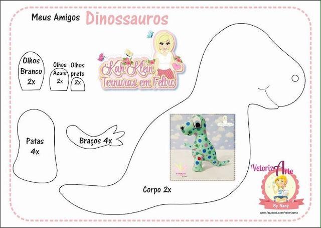 Molde De Dinossauros Baby Em Feltro Como Fazer