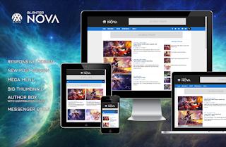Nova Blanter Blogger template free responsive