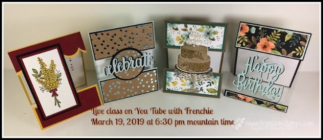 Open Panel Card class, Frenciestamps, Stampin'Up!, Live card class