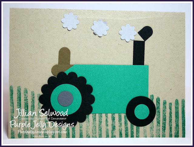Punch art, emerald envy cardstock, Birthday card for a boy
