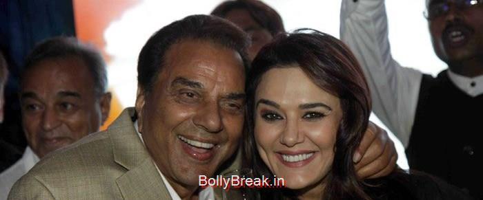 Dharmendra, Preity Zinta, Hot HD Images of Priety Zinta at Aakash Dingra's 7th Birthday Bash