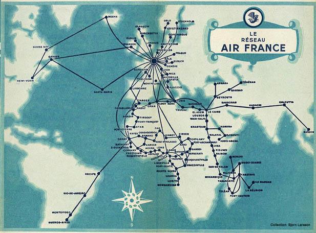 Air France Route Map | compressportnederland