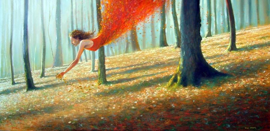 Outono Ajuntando a Si Próprio - Um mundo encantador pintado por Jimmy Lawlor