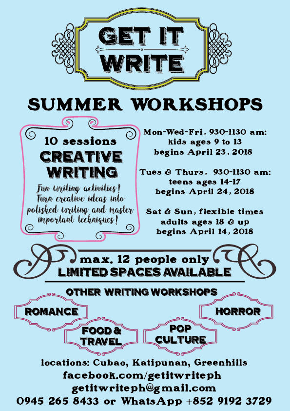 creative writing workshops manila  belonging creative writing  creative writing workshops manila