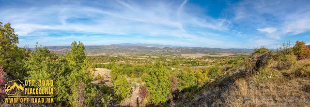 Panorama - view from Monastery church - Veljusa Monastery near Strumica, Macedonia