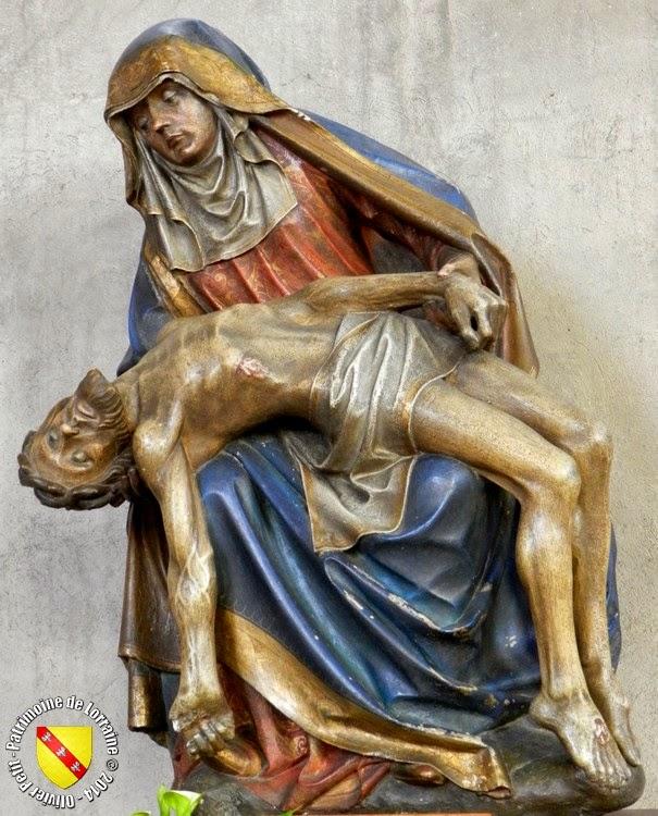 PONT-A-MOUSSON (54) - Eglise Saint-Laurent : pietà (XVe siècle)