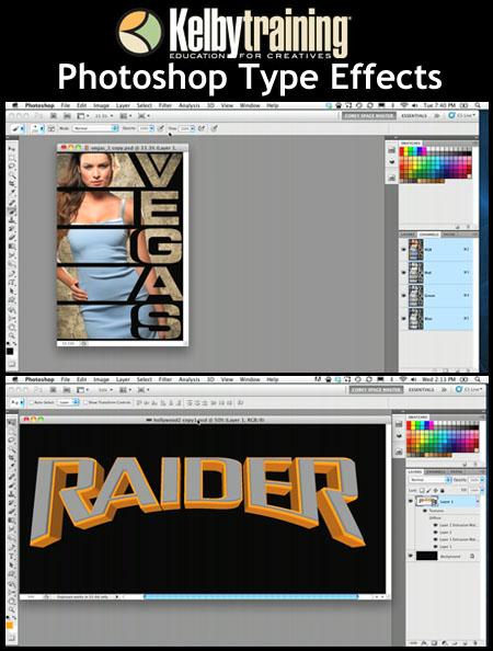Adobe Photoshop CS5: Efectos en las tipografías – Kelby Training