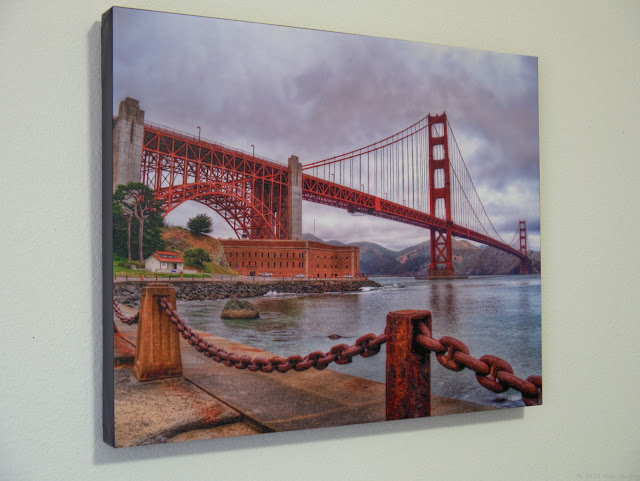 Easy Canvas Print Golden Gate