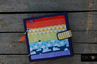 Rainbow buckles quiet book busy book fabric book by TomToy