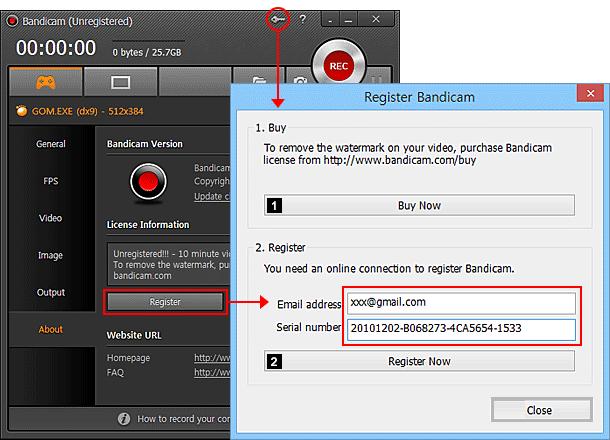 key bandicam 4.1.3
