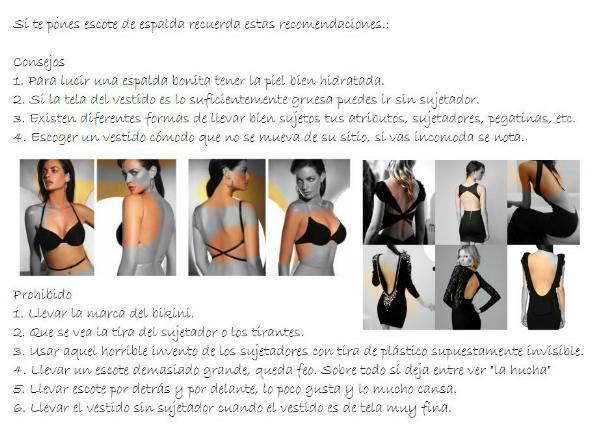 60 escotes de espalda esencia femenina