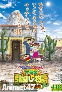 Crayon Shin-chan Movie 23 - Ora no Hikkoshi Monogatari - Saboten Daisuugeki 2015 Poster