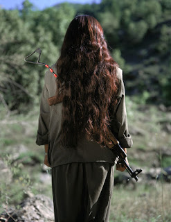 long hair kurdish girl