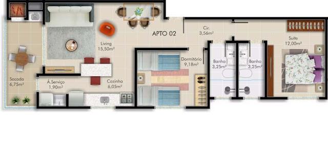 Apartamento a venda no bairro morretes em Itapema
