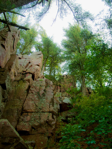 Rock forms on the East Bluff Trail - Devil's Lake Baraboo Wisconsin