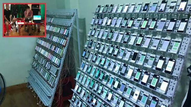Factory Like in raid, Hundreds of Thousand SIM Cards and 400 iPhone Seized