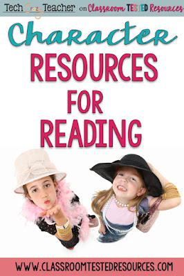 Resources for teaching characters in reading.