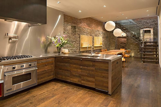 Townhouse modern kitchen