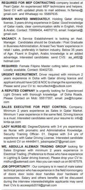 Gulf times qatar job vacancies classifieds pdf editor