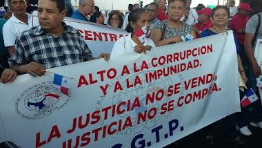 La CGTP presente en MARCHA CONTRA LA CORRUPCIÓN Y LA IMPUNIDAD
