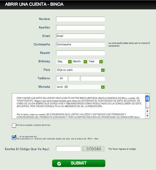Opción binaria bono gratis sin depósito