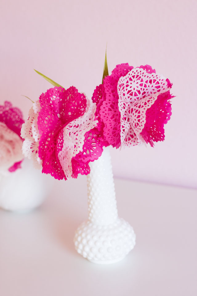 DIY Paper Doily Flowers | Design Improvised