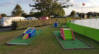 Crazy Golf course at Onchan Pleasure Park on the Isle of Man