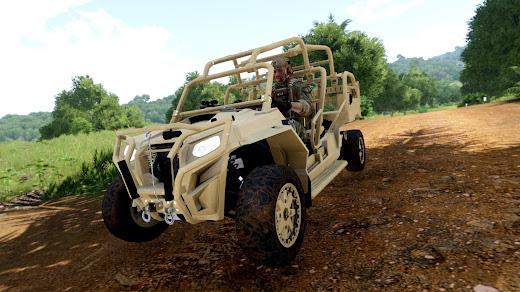 Arma3用現代軍MODのPolaris MRZR4 ATV