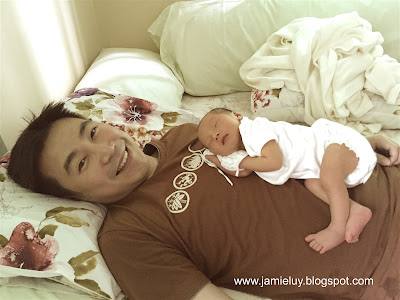 Newborn baby with Daddy
