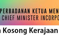 Jawatan Kosong Kerajaan Perbadanan Ketua Menteri Melaka 15 Mac 2018