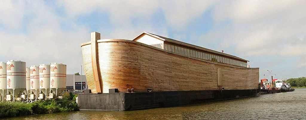 Réplica moderna da Arca de Noé feita ha Holanda permite apreciar as dimensões