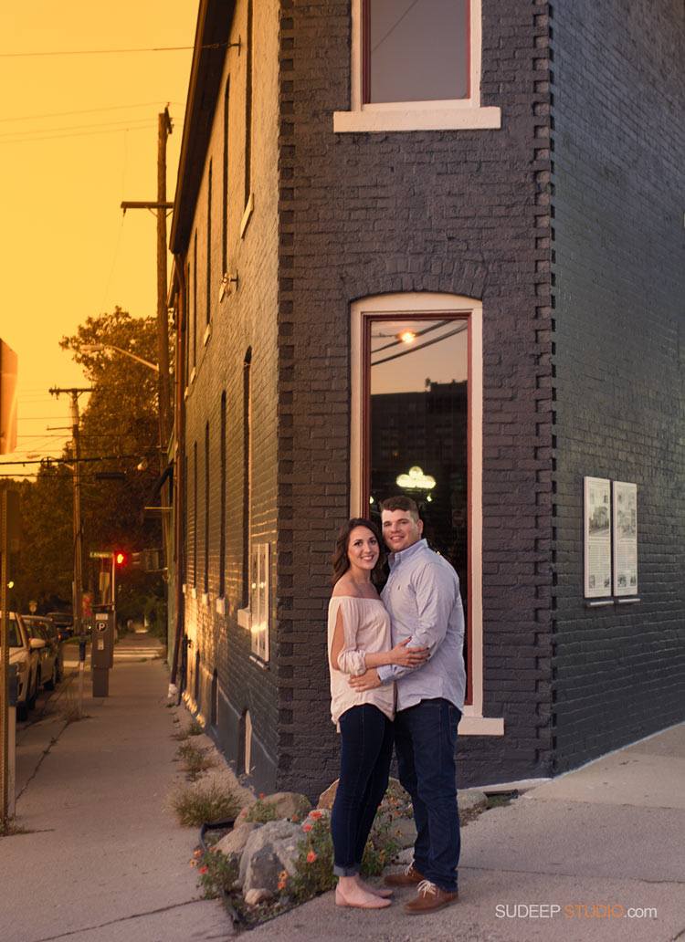 Kerrytown Cafe Engagement Session - SudeepStudio.com Ann Arbor Wedding Photographer