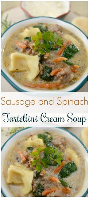 Tortellini cream soup
