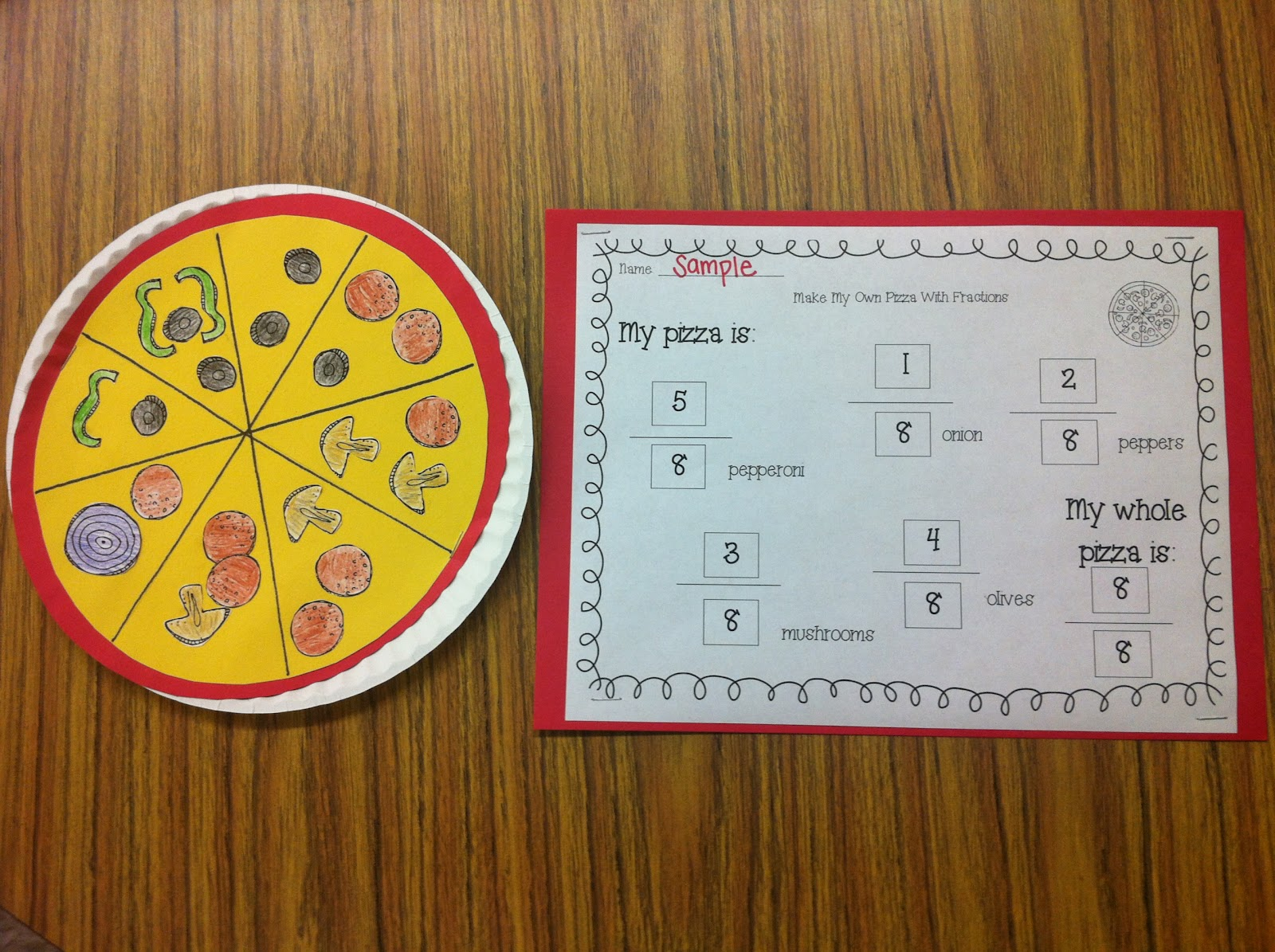 Fraction Pizza Activity