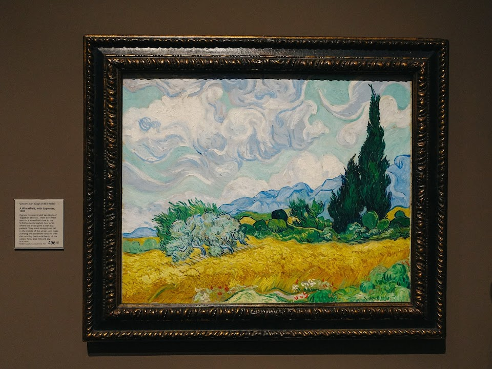 糸杉のある麦畑(A Wheatfield, with Cypresses)1889年