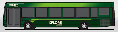 Xplore Dundee bus with new livery 2016