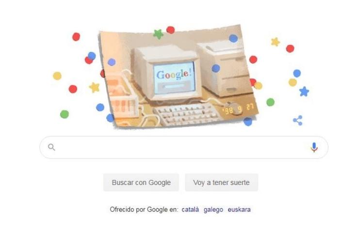 Google celebra su 21 aniversario con un Doodle