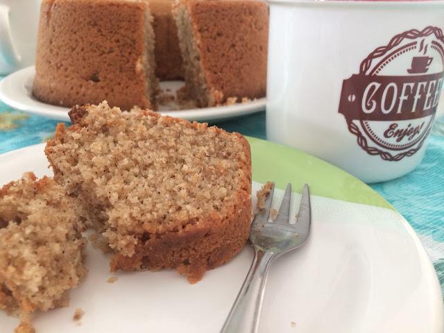 bolo com café! bolo de inhame, funcional e delicioso! motormommy