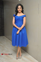 Actress Ritu Varma Pos in Blue Short Dress at Keshava Telugu Movie Audio Launch .COM 0027.jpg