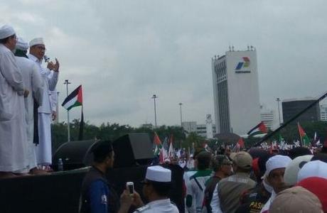 Walau Disoraki Ketika Orasi, Menag Sebut Presiden Jokowi Tegas Dukung Palestina