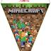 Abecedario Banderines de Minecraft para Imprimir Gratis. Alphabet Minecraft Pennants to Print Free.