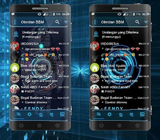 BBM Mod Droid Chat Futuristic Theme Based BBM v3.2.0.6 Apk
