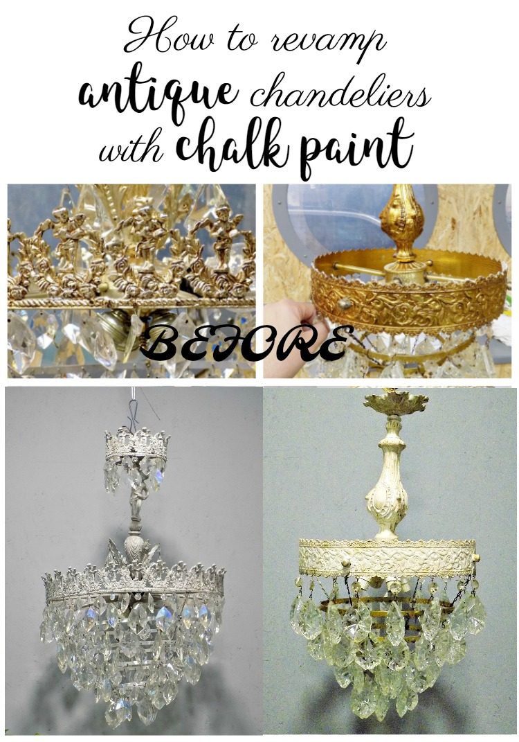 How to revamp antique chandeliers with chalk paint