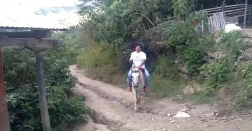 MILKO CORREA: Docente piurano viaja dos horas a caballo para dictar clases en la provincia de Ayabaca