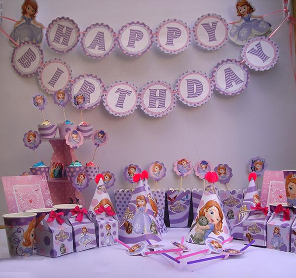 Phụ kiện sinh nhật chủ đề cong chúa sofina giá rẻ