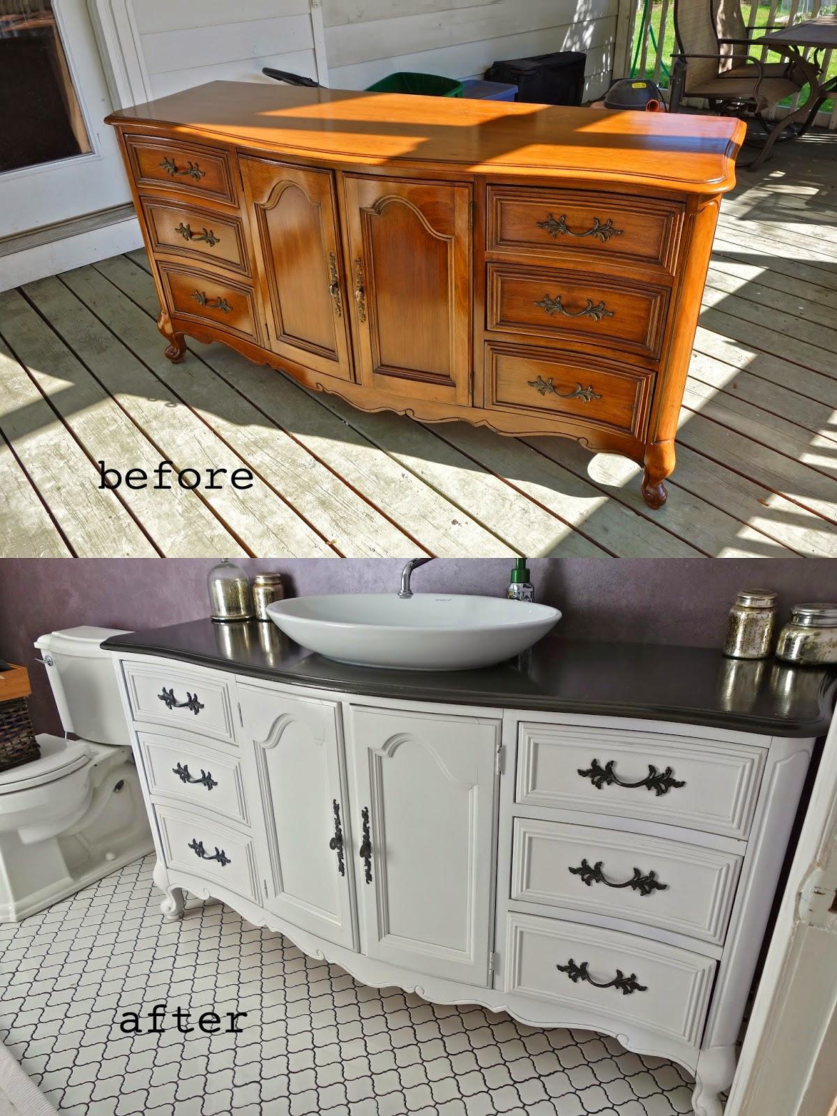 rustyfarmhouse DIY  Repurposing a Buffet or Dresser as a