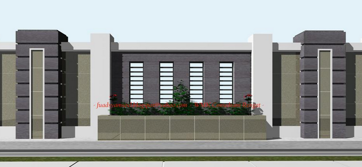 40 model pagar tembok minimalis