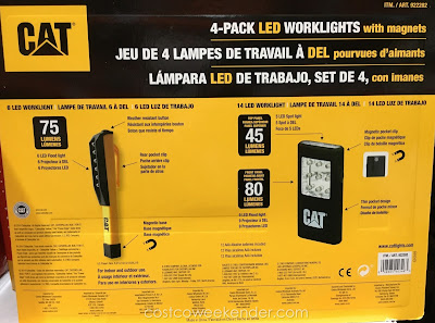 Cat 4-pack LED Worklights - great for the garage, workshop, or outside